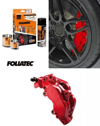 Foliatec Car Motorbike Brake Caliper Paint Kit Red Gloss Brush On High Temp
